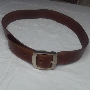 CALVIN KLEIN JEANS brown leather belt